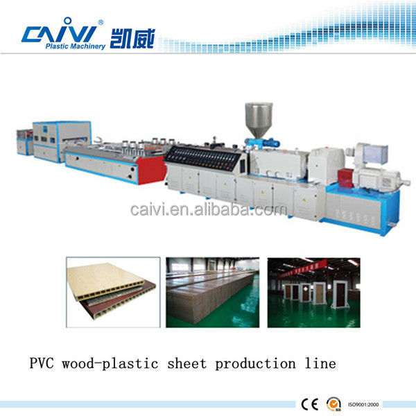 outdoor PE wood plastic plate / panel Extrusion Line making machine