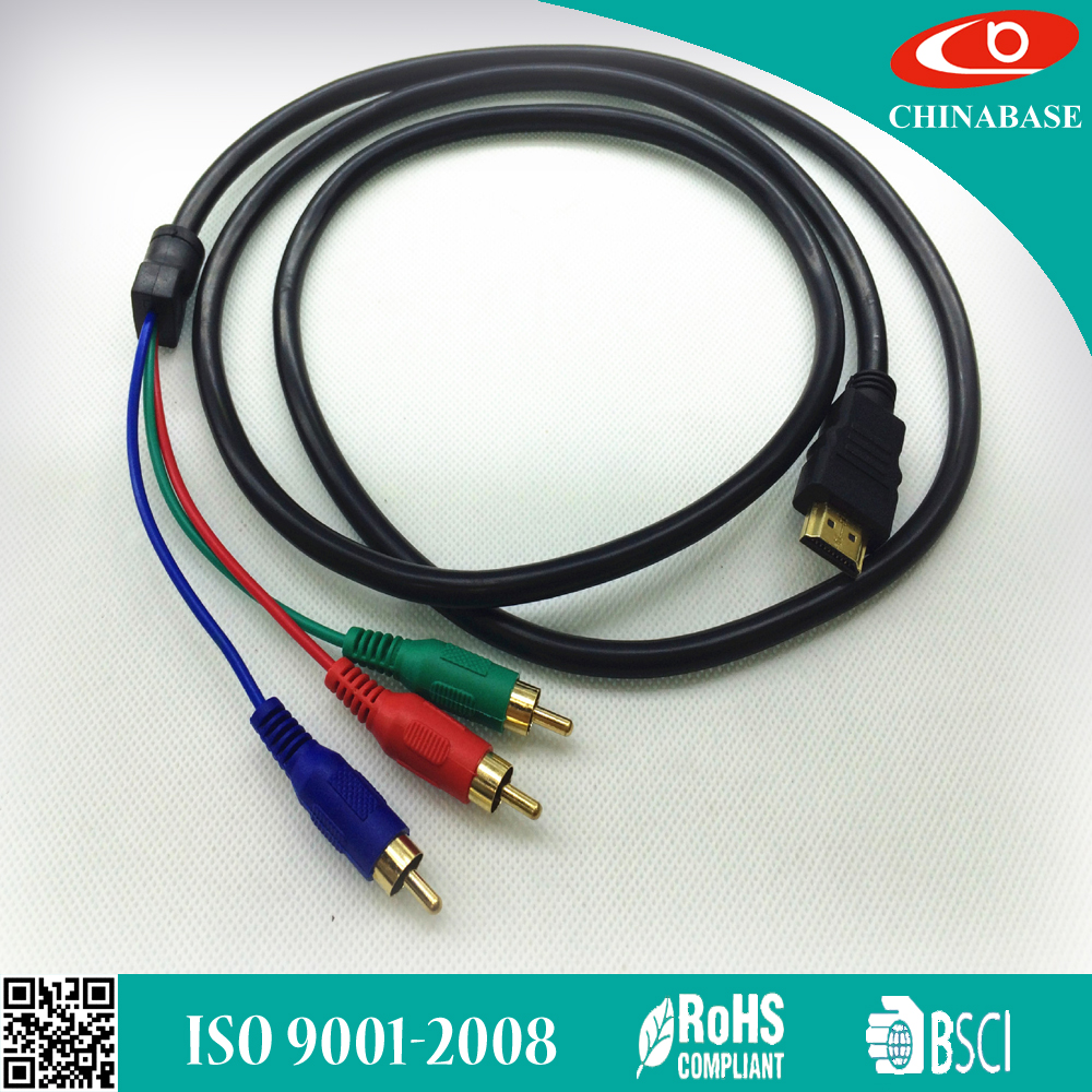 wholesale price RCA male to HDMI cable