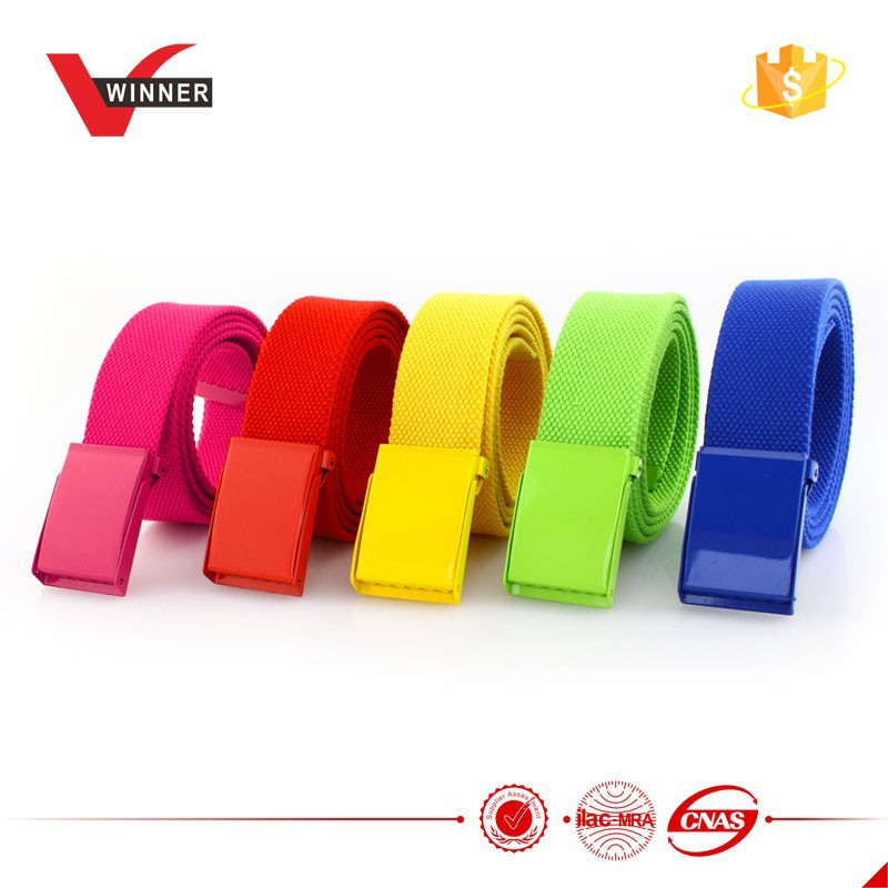 Various color polyester military web belt
