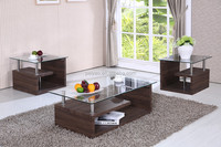 Modern Luxury Grainy Paper Tempered Glass Coffee Table