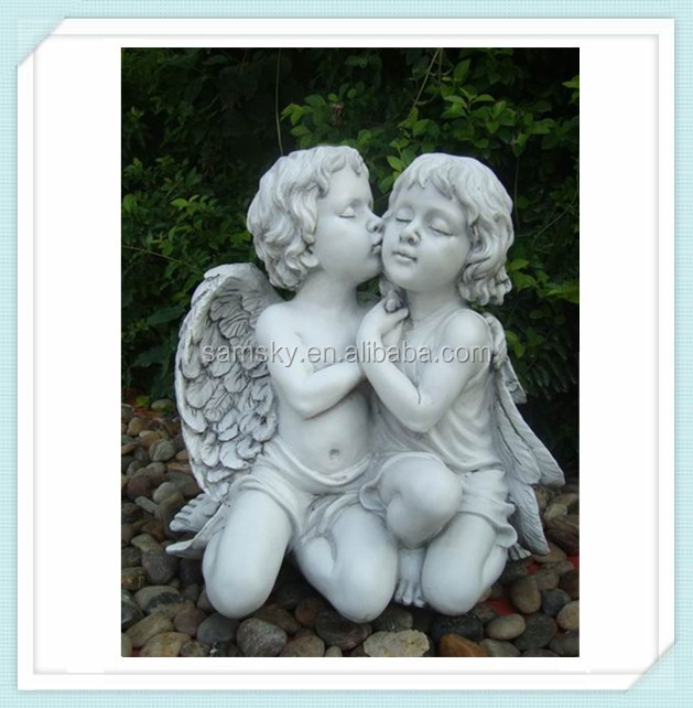 2015 hot new polyresin angel statue, angel figurines, angel