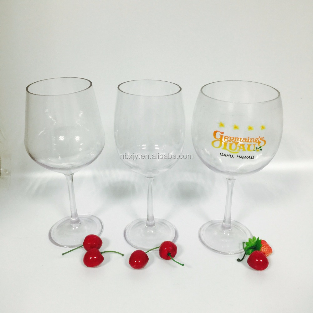 Safety drinking Acrylic wine glass, factory directly supply