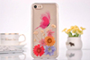 Transparent Butterfly Pressed Protective Back Cover TPU Gel Case for iPhone 7