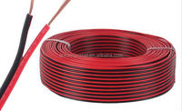 2.50mm2 Two Cores Red Black Speaker Cable/black and red audio cable