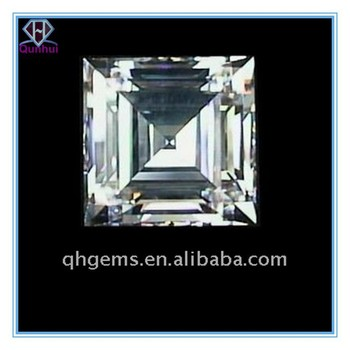 Shining White Square shaped Cubic Zirconia Stone