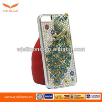 Glass diamond skin case for iPhone 5