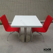 solid surface modern kids fast food table and chairs