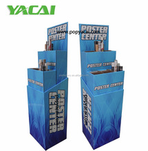 Custom cardboard floor pop poster display stand china manufacturer