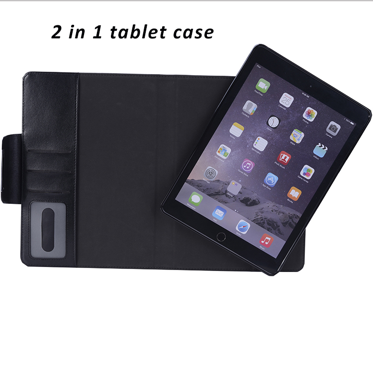 Fashionable Manufacturer 2 in 1 Detachable Cover High Quality Premium PU Leather Case for iPad Pro