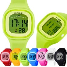 Waterproof swimming fashionable soft silicone sbao watches