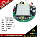 china soluxled led power supply with 60W 1800mA pass CE