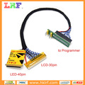 LCD LED screen EDID code chip data read 2 in 1 Cable online Reading and Writing for RT809F RT809H