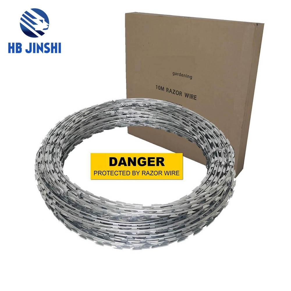 700mm Diameter Roll Galvanized Razor Barbed Wire