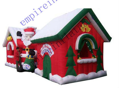 Merry Christmas inflatable bouncers for sale JC054