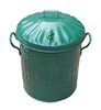15L Litre indoor Metal garbage containers for sale
