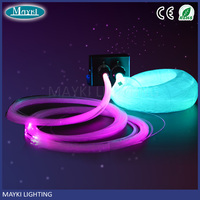 New Design Multi Pure Colour fibre optic twinkle star ceiling kits with light projector and tails