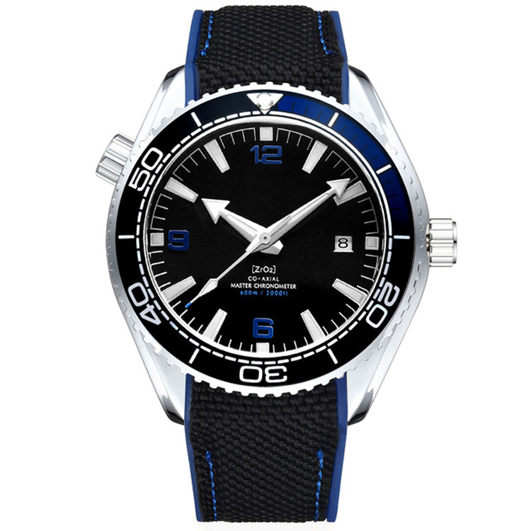 Stainless Steel Case and Bezel Top Quality Nylon Strap Mens Mechanical Automatic Diver Watch