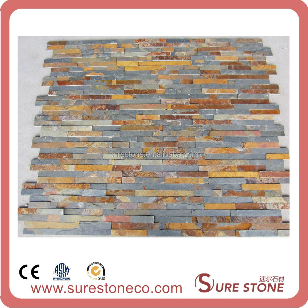 slate cultured stone irregular shape floor tiles good price crazy slate paving