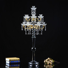 Tall 105cm 41.34inch Floor Standing Crystal Candle Holder Wedding Guide Decorations