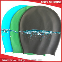 Extra large swim cap for long hair deadlock lady wholesale waterproof swimming cap silicone
