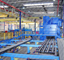 Steel Plate both-side surface Shot Blasting cleaning and Painting Drying whole line