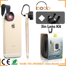 Iboolo brand available in Various types 3 in 1 lens for phone camera