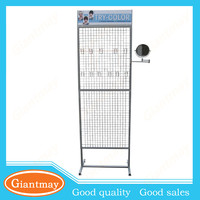 grid hook rack for hair extension display case