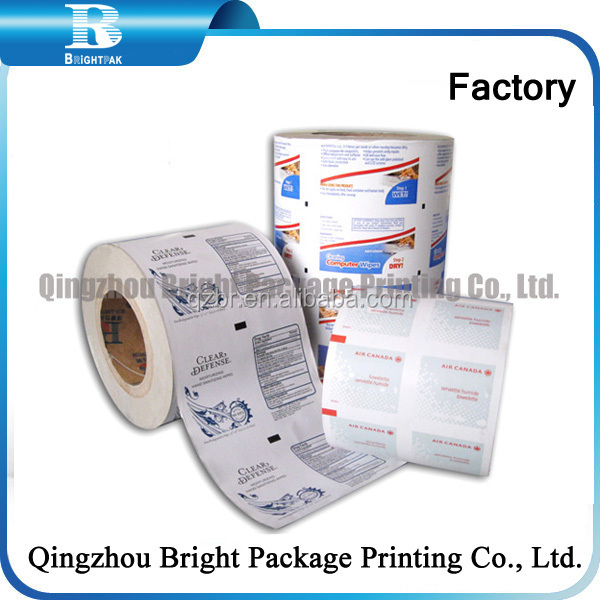 Aluminum foilfor industrial paper towel packaging paper, Aluminum compound paper in alcohol prep pad packaging paper
