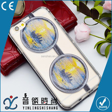 Hot selling 2017 Newest 3D colorful sunglasses design hard PC cover mirror electroplated phone case for iPhone with low MOQ