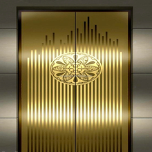 colored Etching stainless steel sheets elevator door