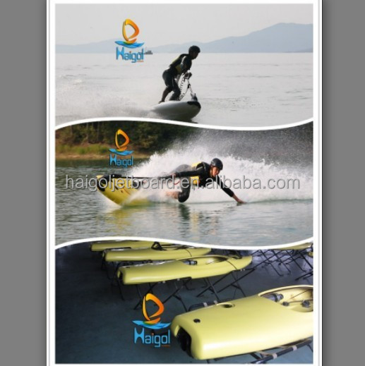 Gas power surfboard as mini personal watercraft jet ski