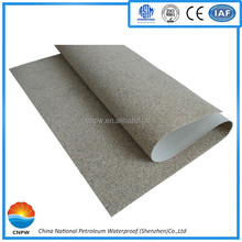 PVC sand Polymer Waterproofing roofing Membrane for construction