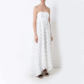 Lattice Fils Coupe High-low Ladies Gown Dress