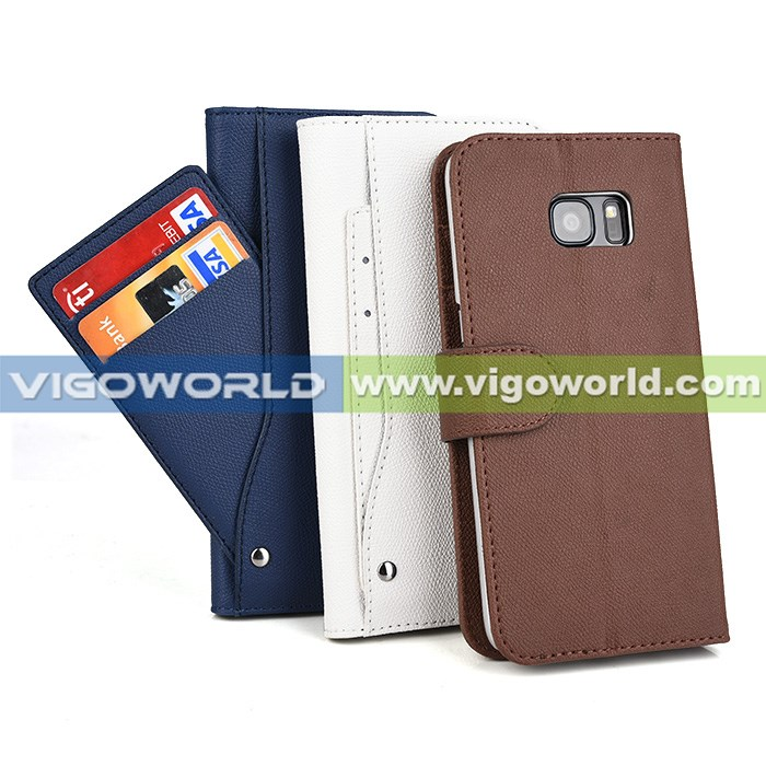 New arrival card slots /card holder leather stand case for samsung s7 edge