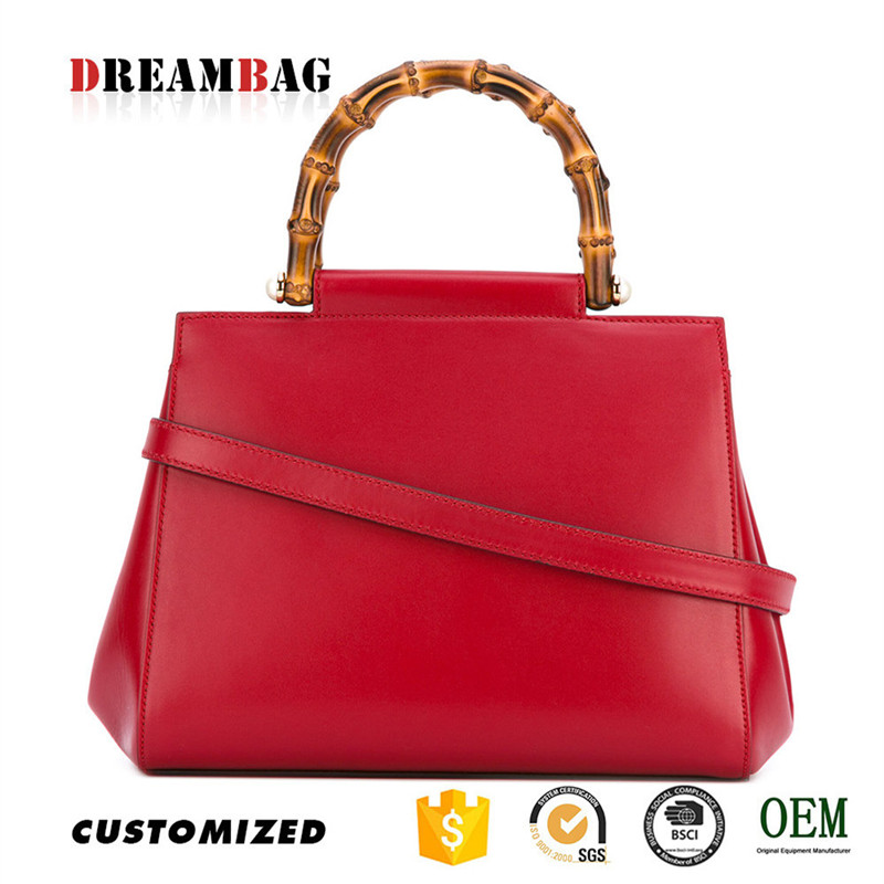 Red calfskin oem guangzhou popular high quality indian bridal handbags