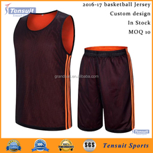 Good quality basketball jersey reversible mesh dri fit basketball jersey 2016 latest design custom basketball uniform cheap