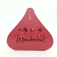 "2015 Hot Sale Red ""Wonderful"" Heart Irregular Shape Laser Cut Wedding Favors Candy Boxes for Wholesale chocolate box"