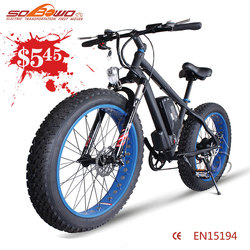Cheap Fat Electric Bicycle rechargeable 2016 green city battery powered used bicycles for sale in dubai SO-1