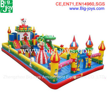 large funcity inflatable games park, juegos inflables china