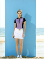 ladies' polo shirt and skort golf shirt