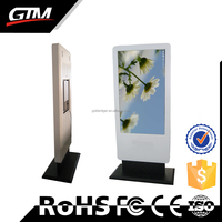 47 Inch Touch Screen Monitor Big Advertising Signage Touch Screen Kiosk Totem Lcd Display Supermarket Video Advertising Player