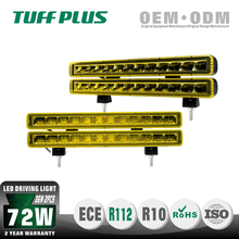 Supper bright 72W LED twins lights side emitting LED driving light bar with E-mark E13 for cars and trucks ATV UTV cars