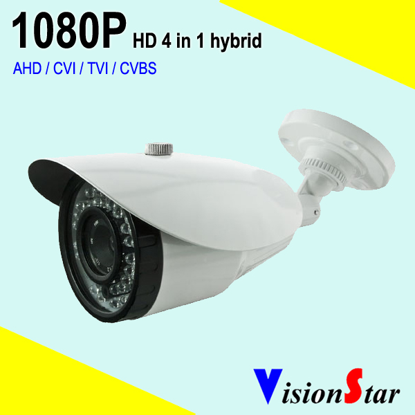 VisionStar HD Analog Outdoor 2MP bullet AHD Camera 1080P CCTV Camera Night Vision Security Cam IR Cut Work For AHD DVR