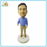 Modern most popular business gift polyresin boss man bobble head dolls