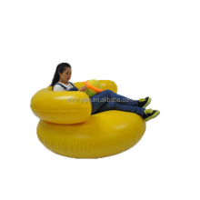 waterproof giant yellow inflatable sofa