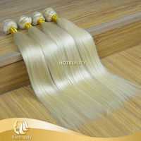New arrival virgin blonde straight 3 bundles russian hair straight