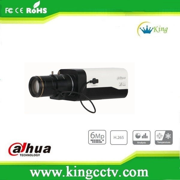 Dahua 6MP Box Network Camera DWDR Auto back focus camera POE Micro SD Camera IPC-HF8630F