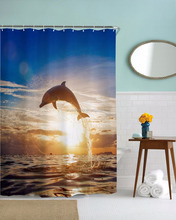 100% Polyester Printed Shower Curtain