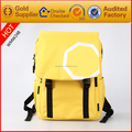 Bulk wholesale brand name yellow color canvas backpack