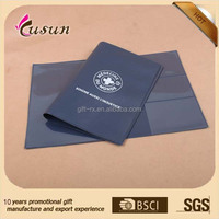 New design plastic PVC document holder car registration wallet made in China